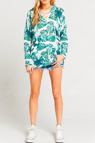 Show Me Your Mumu Lace-Up Palm Sweater