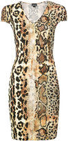 Just Cavalli snake print fitted dress - women - Viscose - 38