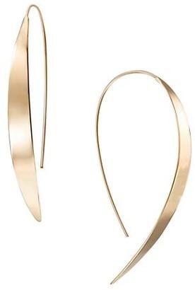 Lana 14K Yellow Gold Small Vanity Hooked On Hoop Earrings