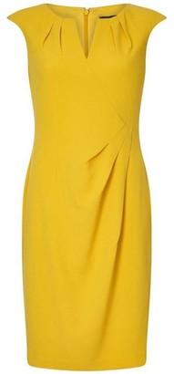 Adrianna Papell Split Neck Side Drape Sheath Dress