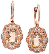 Effy Blush by Morganite (4-5/8 ct. t.w.) and Diamond (1/4 ct. t.w.) Earrings in 14k Rose Gold