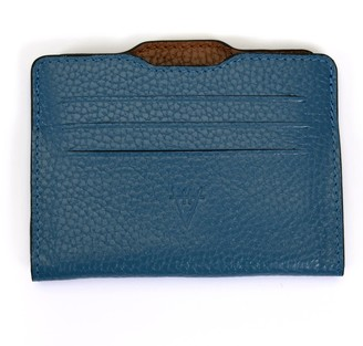 Atelier Hiva Double Card Holder Deep Blue & Brown