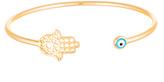 Bliss Gold Hamsa & Evil Eye Cuff