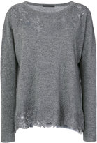 Ermanno Scervino lace embroidered knitted top - women - Cashmere/Virgin Wool - 40