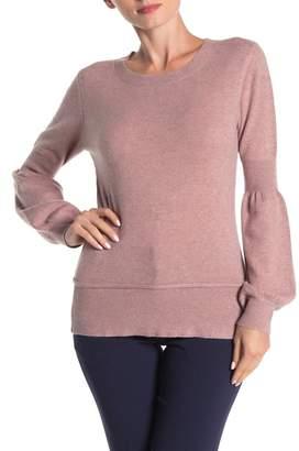 Lynk Knyt & Cashmere Bubble Sleeve Sweater