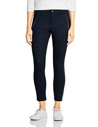 Street One Women's 372549 York Slim Fit Trouser, (Deep Blue 11238), W40/L30 (Size: 40)