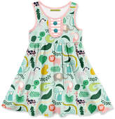 Millie Loves Lily Girls' Casual Dresses Green - Green Jungle Button-Front A-Line Dress - Toddler & Girls