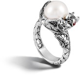 John Hardy Naga Center Stone Ring with Pearl and Gemstone