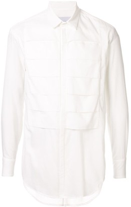 Strateas Carlucci pleated long-sleeve shirt