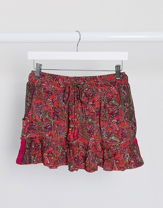 Raga lasting passion mini sirt in red floral