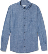 A.p.c. - Chemise 87 Embroidered Cotton-chambray Shirt