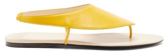 The Row Ravello Leather Sandals - Womens - Yellow