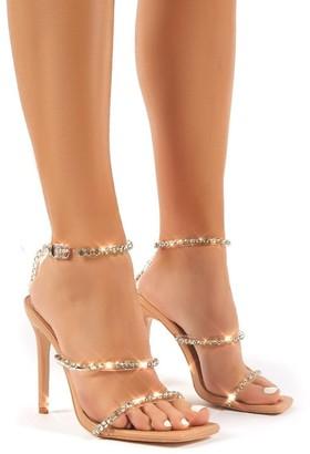 Public Desire Uk Heartbreak Strappy Diamante High Heels