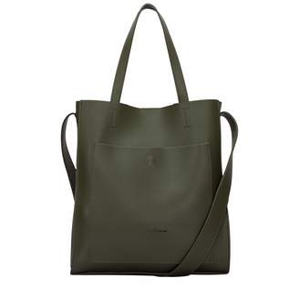 Claudia Canova Womens Twin Strap Tote Style Shoulder Bag Green (Green)