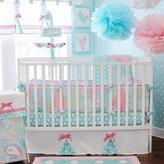 My Baby Sam Aqua Pixie Baby 4 Piece Crib Bedding Set