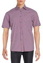 James Campbell Plaid Short-Sleeve Shirt