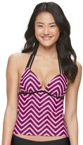 SO Mix and Match Chevron Push-Up Tankini Top