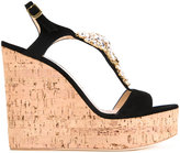 Giuseppe Zanotti Design embellished wedge sandals - women - Fisher - 36