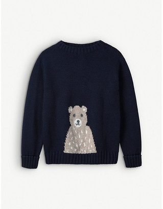The Little White Company Bear cotton-blend jumper 1-6 years