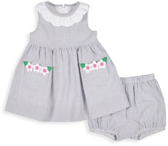 Florence Eiseman Baby Girl's 2-Piece Striped Seersucker Dress & Bloomers Set