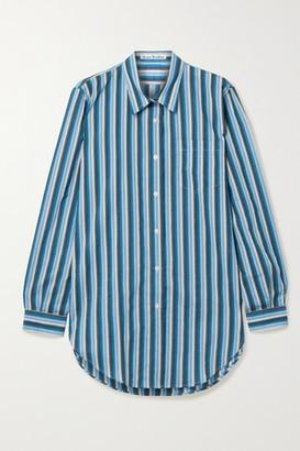 Acne Studios Striped Cotton-blend Voile Shirt - Blue