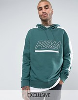 Puma Vintage Terry T7 Hoodie In Green Exclusive To Asos