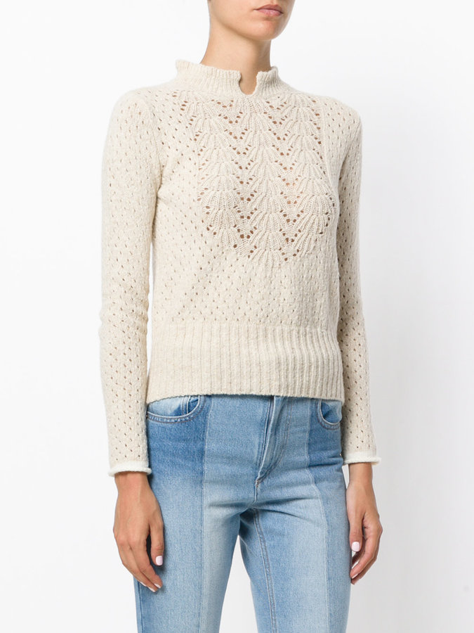 See by Chloe pointelle delicate sweater