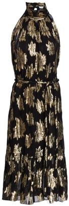 IRO Laza Floral Lurex Jacquard Midi Dress