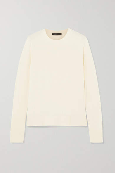 The Row Ghent Cashmere And Silk-blend Sweater - Ivory