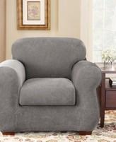 Sure Fit Stretch Pique 2-Piece Chair Slipcover