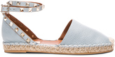 Valentino Rockstud Double Flat Leather Espadrilles