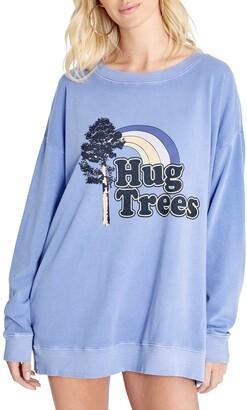 Wildfox Couture Roadtrip Tree Hug Graphic Sweatshirt