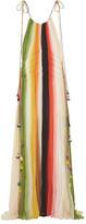 Chloé Tasseled striped silk-crepon gown