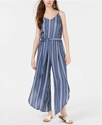 American Rag Juniors' Striped Tulip-Hem Jumpsuit