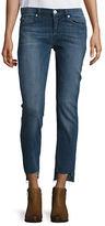 Hudson Colette Mid-Rise Step Hem Skinny Jeans