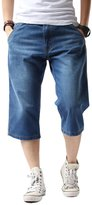 Yollmart Men's Straight Denim Short Jeans Cropped Pants