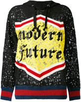 Gucci GG Web Modern Future lace hoodie