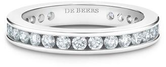 De Beers Platinum Channel-Set Diamond Eternity Band