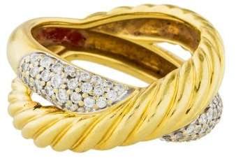 David Yurman 18K Diamond Cocktail Ring