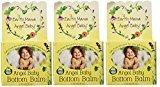 Earth Mama Angel Baby Bottom Balm Zinc & Lanolin Free Calendula Herbal Diaper Cream, 2 Fluid Ounce (Pack of 3)