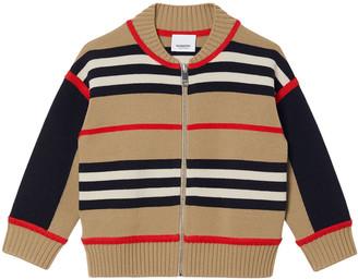 Burberry Boy's Martyn Icon Stripe Cardigan, Size 3-14
