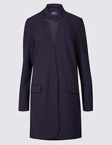 M&S Collection Crepe Notch Neck Coat