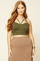 Forever 21 FOREVER 21+ Plus Size Strappy Crop Top