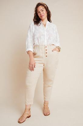 Linen Utility Pants By Amadi in Beige Size 1 X