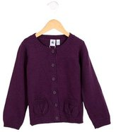 Petit Bateau Girls' Long Sleeve Cardigan