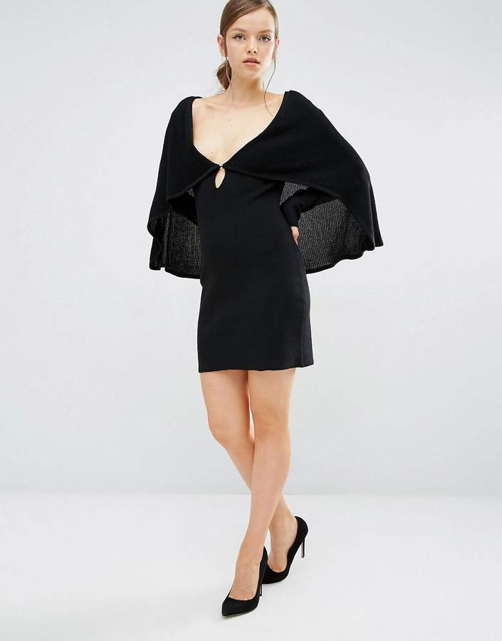 Asilio All That Fame Dress with Cape Detail