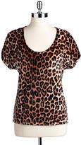 Lucky Brand Leopard Print Velvet Top