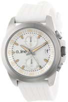 A Line a_line Women's 80010-02-WH Aroha Chronograph Silver Dial White Silicone Watch