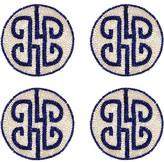 Joanna Buchanan Set of 4 Chinoiserie Coasters - Navy