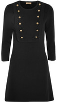 Burberry Silk-blend Jersey Mini Dress - Black